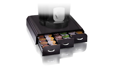 Black Coffee Pod Storage Drawer 36 Keurig K-Cup, 42 CBTL/Verismo Coffee Pods