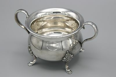 Vtg Wm Rogers Silver Plated Hollowware Sugar Bowl Footed Hamilton Canada