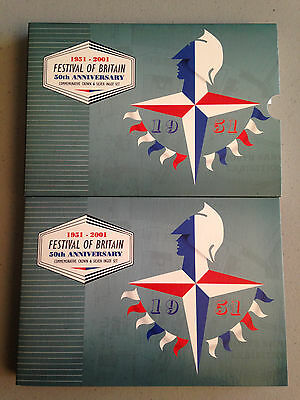George Vi 1951 Festival Of Britain Crown And Silver Ingot Set - Free Shipping