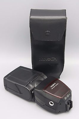 Vtg Minolta Maxxum 5200i Flash Unit with Case Tested and Working