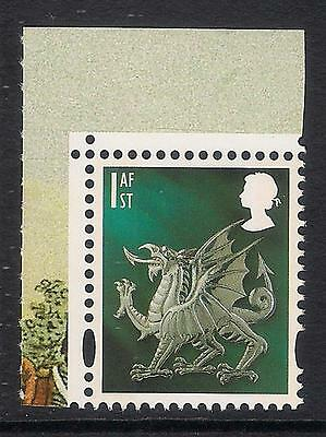 Wales 2007 W122 1st Dragon 2 bands litho Army Uniforms booklet stamp MNH ex W120