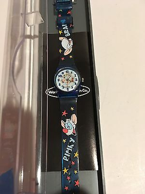 Warner Bros. Studio Store Pinky And The Brain Fossil Watch Awesome Very Mint