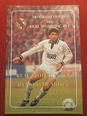 Programme Official Real Madrid Spain Dynamo Moscow Union Soviet Uefa 1994 1995