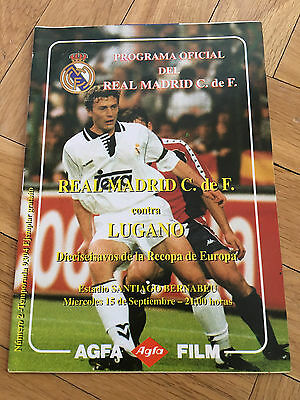 Programme Official Real Madrid Spain Lugano Switzerland Winners Cup 1993 1994