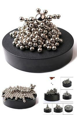 Magnetic Desk Toy Sculpture Stress Relief Stainless Steel Ball Office Decor New