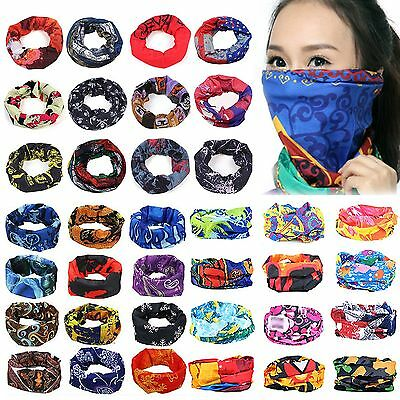 Neu Head Face Mask Bandanas Neck Gaiter Snood Headwear Tube Scarfs For Sports
