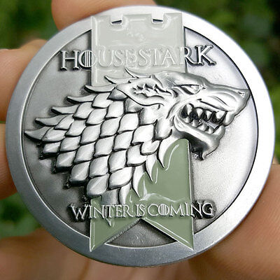 PREMIUM Game of Thrones House Stark Poker Card Protector Golf Coin NEW