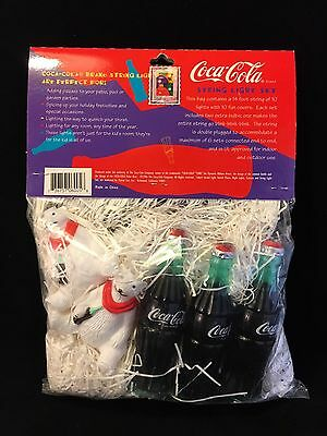 Coca Cola Lighting Products 10-piece String of Coke Bottles and Polar Bears 1996