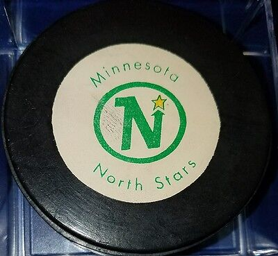 Vintage 1970's minnesota north stars  Hockey game Puck Rawlings old CANADA