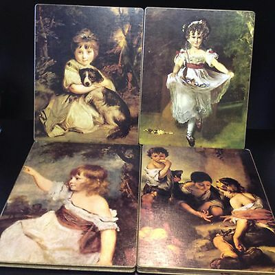 Vintage Set x 8 Placemats -  Old Masters Series - Children - By Milhurst NZ