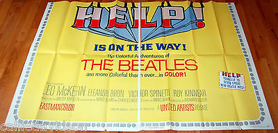 HELP The Beatles 1965 Bottom 2 Sections of Original 6 Sheet Movie Poster