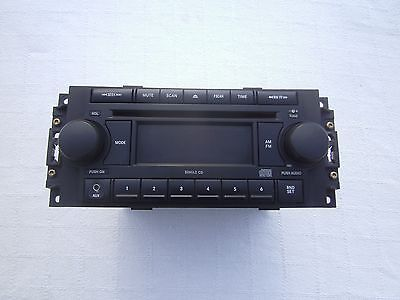 """2005 2006 2007 Dodge 1500 Pickup Factory Single Cd Radio With Aux """"ref"""" Oem"""