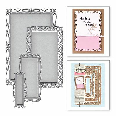 SPELLBINDERS NESTABILITIES cutting dies ROMANTIC RECTANGLES TWO ww Cuttlebug