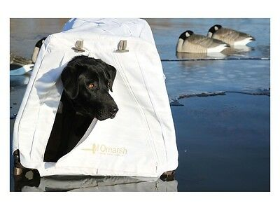 MOmarsh InvisiLAB Elevated Dog Blind Snow Cover Dog Blind for Waterfowl Hunting