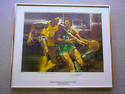 Wilt Chamberlain - John Havlicek Autographed Sports Illustrated Lithograph