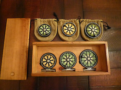 Ross RR 1, 2, and 3 Matched Fly Fishing Reel Set Vintage w/ Spare Spools
