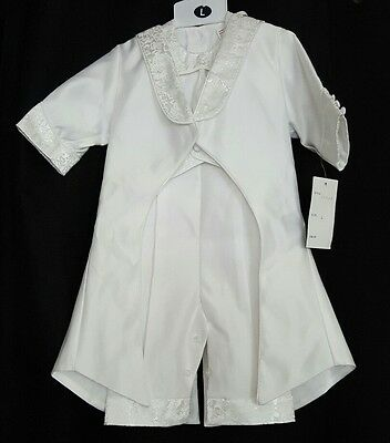 NWT Joey Couture Baby Boy's Baptism Christening Wedding Suit 12-18 months romper