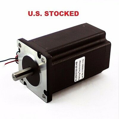 "2pcs NEMA23 570OZ/IN 5A 3/8"" DUAL SHAFT STEPPER MOTOR"