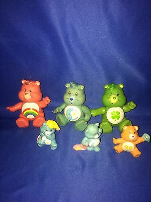 Lot x 6 Vintage A.G.C. Care Bears Figures~LOOSE~LOOK~