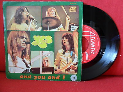 1973 YES And You And I -Part I & II 7/45 PORTUGAL MEGARARE UNIQUE PS SLEEVE PROG