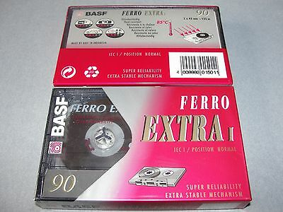Audio Cassette Basf 90' Ferro Extra Normal ..10 Pcs New Sealed