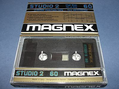 Audio Cassette Magnex Studio 2 60' Chrome...10 Pcs New Sealed