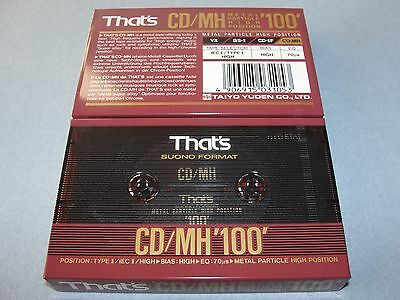Audio Cassette That's Cd/mh100' Metal Particle Super Alloy ..10 Pcs New Sealed