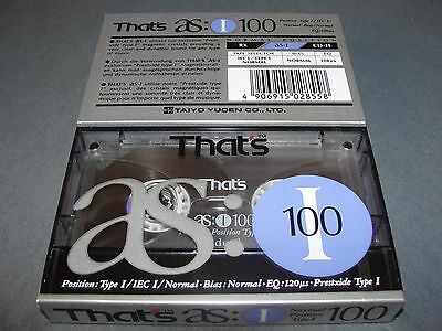 Audio Cassette That's As100'  ..10 Pcs New Sealed