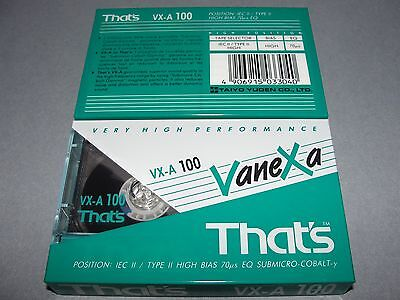 Audio Cassette That's Vx-A100' Chrome ..10 Pcs New Sealed