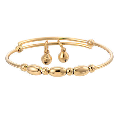 Popular Baby/Toddler/ Girls Yellow Gold Filled Bell Adjustable Bangle