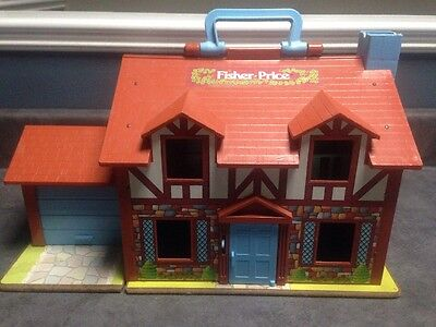 Vintage 1980 Fisher-Price Little People Brown Tudor House #952
