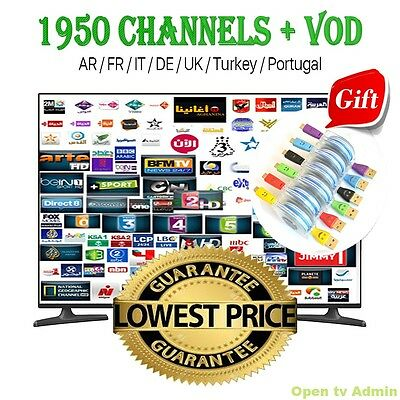 Iptv  Abonnement 1 an pour Android, Ios, Smart tv, Enigma, M3u, Mag, Moresat