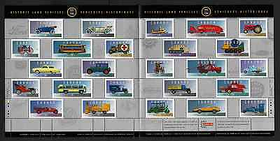 Canada -Full Pane of 25 Stamps -Historic Land Vehicles Collections #1605 MNH