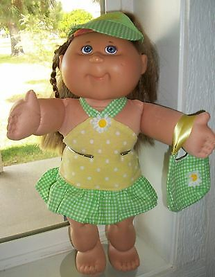 Cabbage Patch Kid 2004 Pa-2 Girl Magic Glow Brn Hair Blue Eyes 3Pc Outfit Diaper