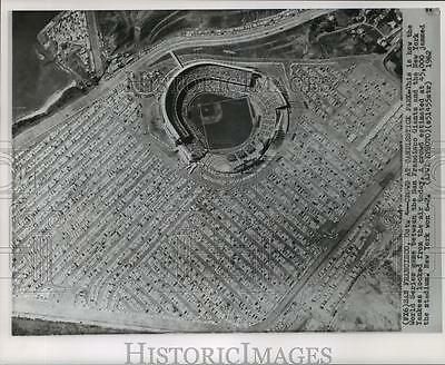 1962 Press Photo World Series - San Francisco Giants, New York Yankees, Aerial