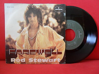 1974 ROD STEWART Farewell 7/45 NMINT Portugal RARE UNIQUE Sleeve PS