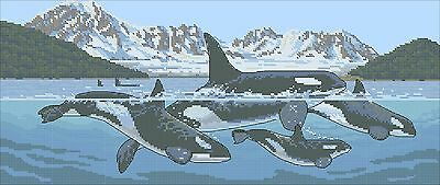 Giants of the Sea - Cross Stitch Chart - Free Postage