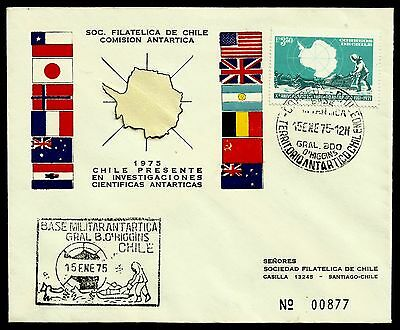 Chile, Antarctic, Gen. O`higgins Antarctic Base, Year 1975, Fdc, Rare, (Gar10)
