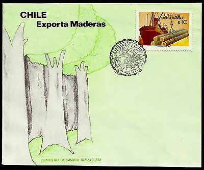 Chile, Chile Export Wood, Year 1978, Fdc, Rare, (Gar11)