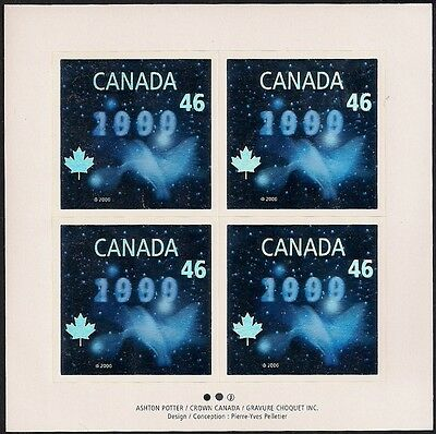 Canada Stamps - Full Pane of 4 - Millennium Issue ''Dove'' Hologram #1812 - MNH