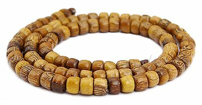 Laburnum wood Pearl Strand small round Wheels approx. 5x4 mm Wooden beads H.