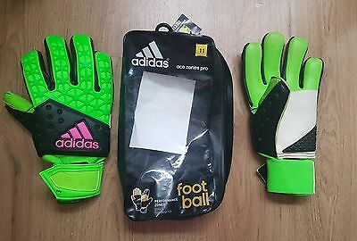 Adidas Goal Keeper Gloves ace zones pro  green / black / pink Mens 11 size Sale!