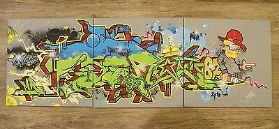 "Graffiti Canvas/Leinwand 3x 40x40 ""JERO87"" Original Berlin Artist"