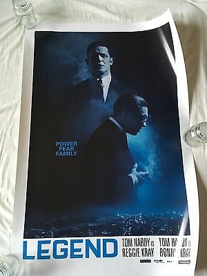 LEGEND film*Limited Edition*Tom Hardy*Kray Brothers*Poster Print 27in x 40in
