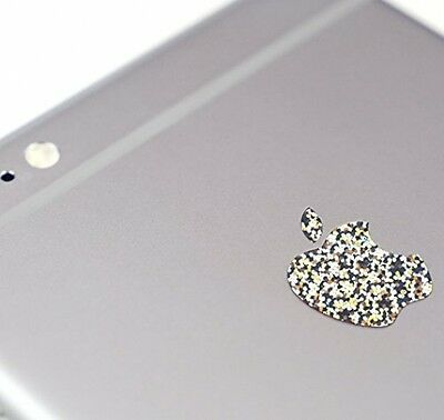 Logo Sticker Decal Vinyl iPhone 7 Plus Color Changer Overlay Silver Glitter New