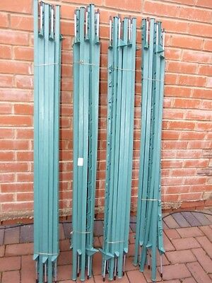 40 x Fenceman Poly Electric Fence Posts Green 1.4M