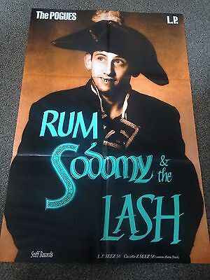 The Pogues Rum Sodomy and the Lash UK first press vinyl record with rare promo p