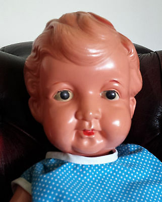 Gorgeous Japanese Celluloid Boy 'Little Big John' Chunky Body Great Expression