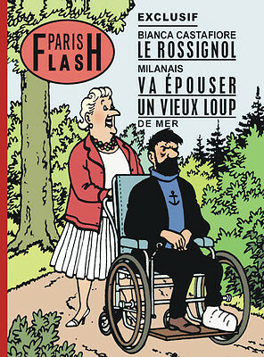 Tintin parodie Album Paris Flash