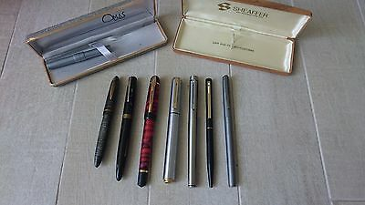 Lot of vintage fountain pen, pens (Waterman, Omas, sheaffer, etc.)